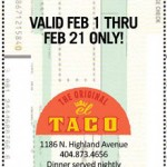 #4 – FREE TACO at El Taco – Ends Tomorrow: Sunday, February 21