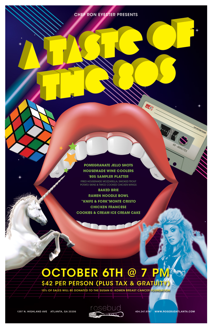 #243 – Rad 80s Dinner Tomorrow Night at Rosebud – Get Your Reservation Before They're All Gone! Wednesday, October 6, 2010