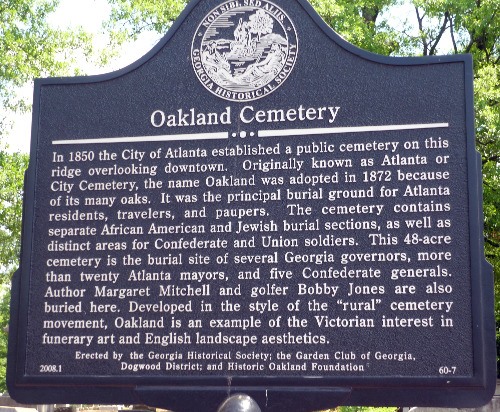 #241 – 31st Annual Sunday in the Park at Oakland Cemetery Today – Sunday, October 3, 2010