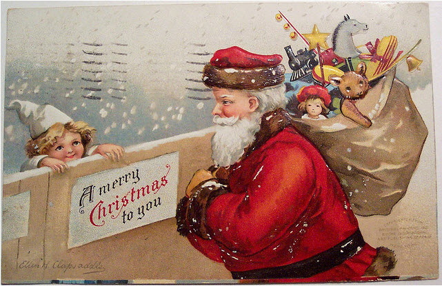 vintage-christmas-postcard-santa-by-riptheskull-on-flickr