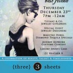 "#332 – Embrace Your Inner Audrey Hepburn at the {three} sheets ""Diamonds are a Girl's Best Friend"" Party Tonight – December 23, 2010"