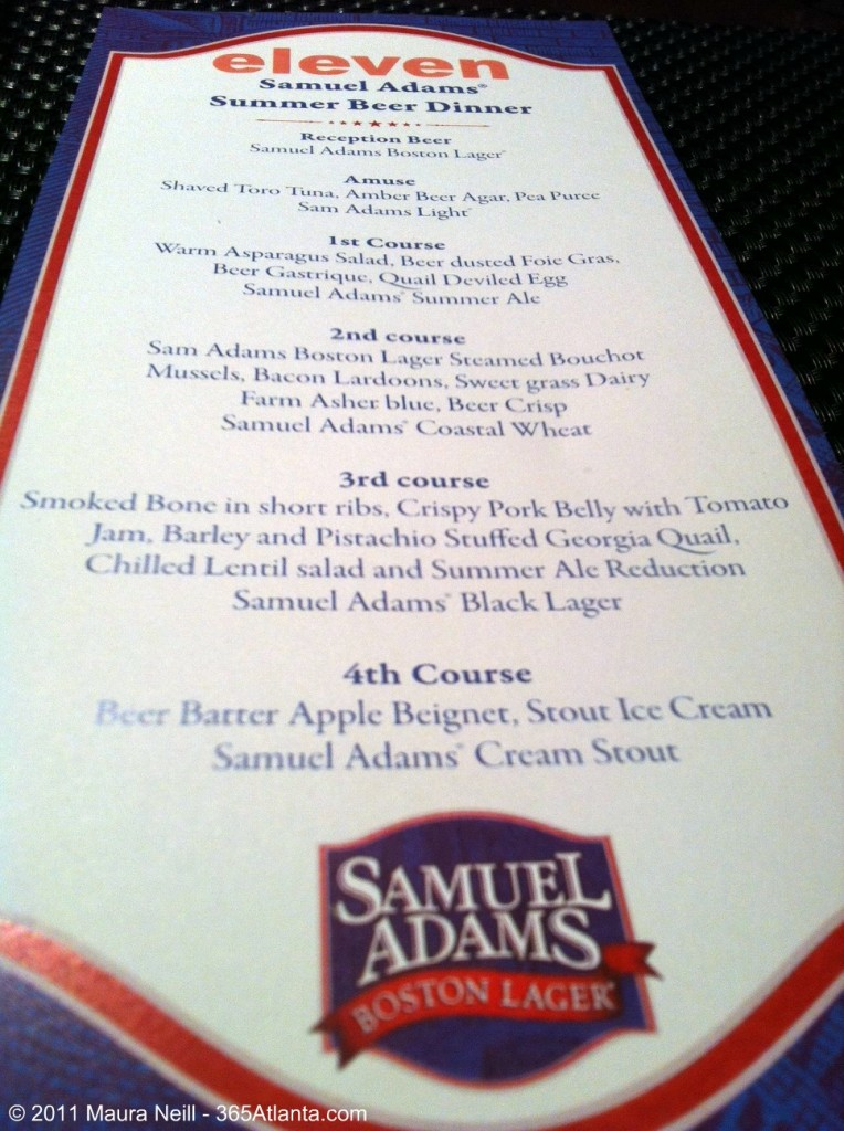 eleven-loews-atlanta-hotel-samuel-adams-beer-dinner-menu