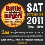 Join Me as I Judge the 2nd Annual Battle of the Burgers in Virginia Highland Benefiting Embraced – Saturday, October 1, 2011