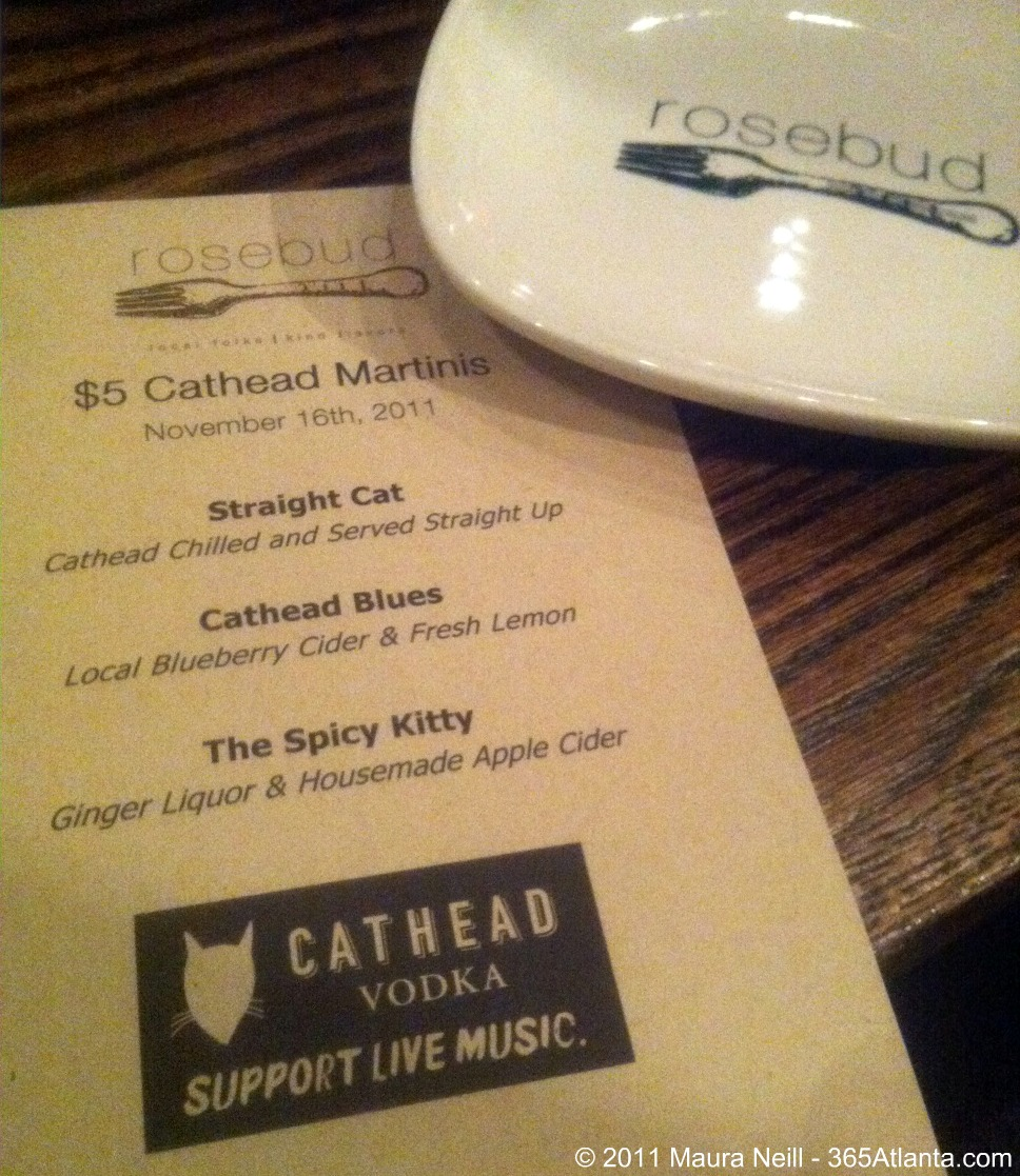 Wednesday Happy Hours at Rosebud – $5 Cathead Martinis Make It a No-Brainer!