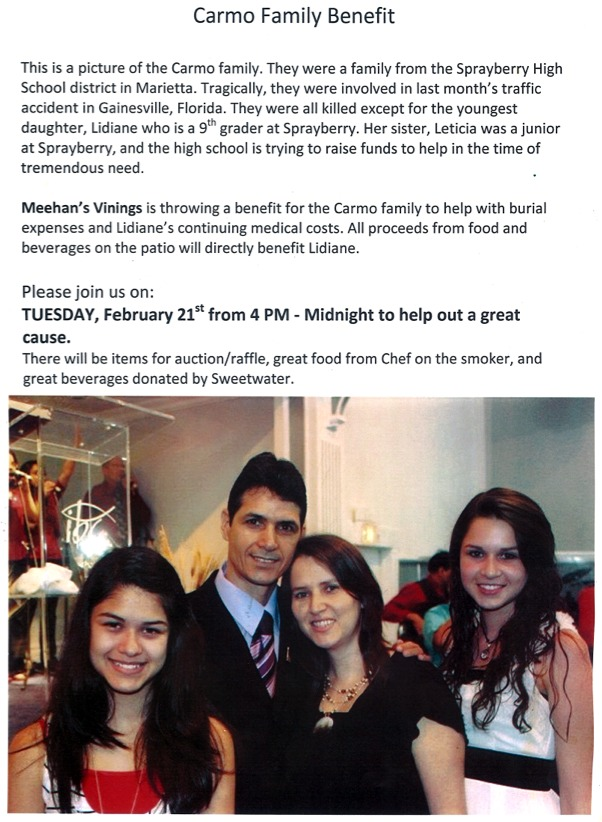 Dine Out TONIGHT For a Great Cause at Meehan's Public House in Vinings – Tuesday, February 21, 2012