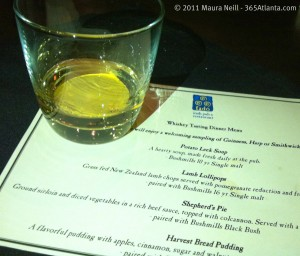 fado-atlanta-bushmills-whiskey-dinner-2011-menu