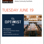 Dine Out for Atlanta Community Food Bank Tonight at The Optimist – Tuesday, June 19, 2012